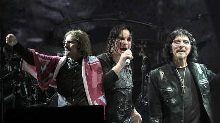 Geezer Butler, Ozzy Osbourne, and Tony Iommi.